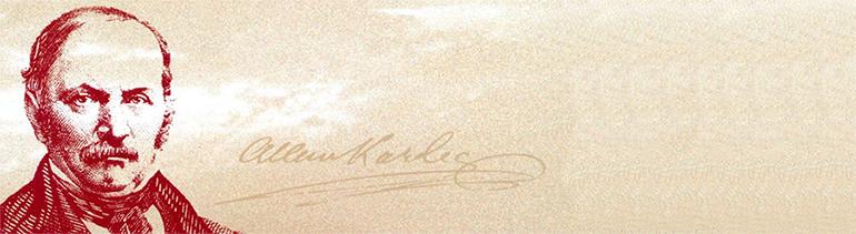 Allan Kardec - O codificador da Doutrina Espírita com suas Obras Básicas.